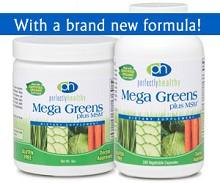 Mega Greens plus MSM™ Capsules or Powder